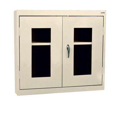 26 in. H x 30 in. W x 12 in. D Steel Wall Mounted Cabinet Storage in Putty
