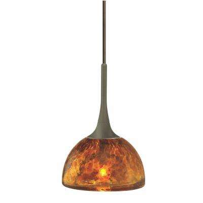 Sophia Coax 1-Light Amber Bronze Hanging Mini Pendant