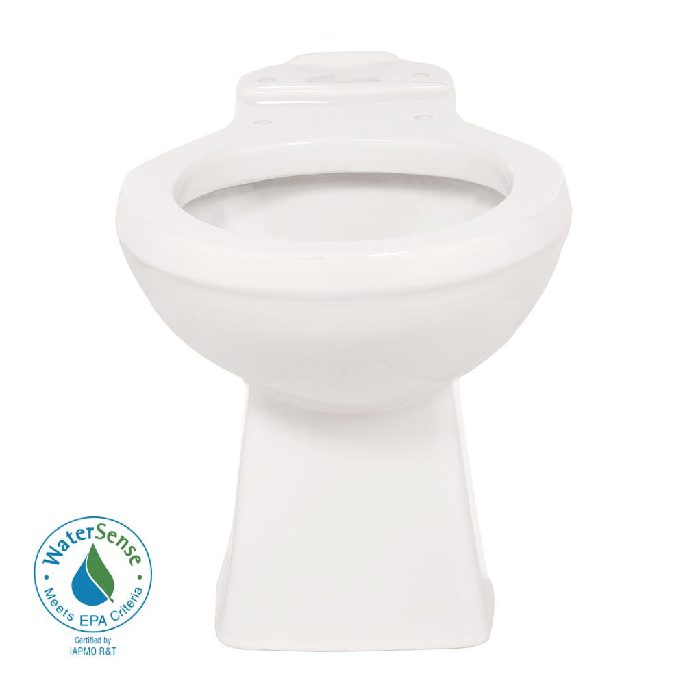 Round Toilet Bowl Only in White with 12 in. Rough-In