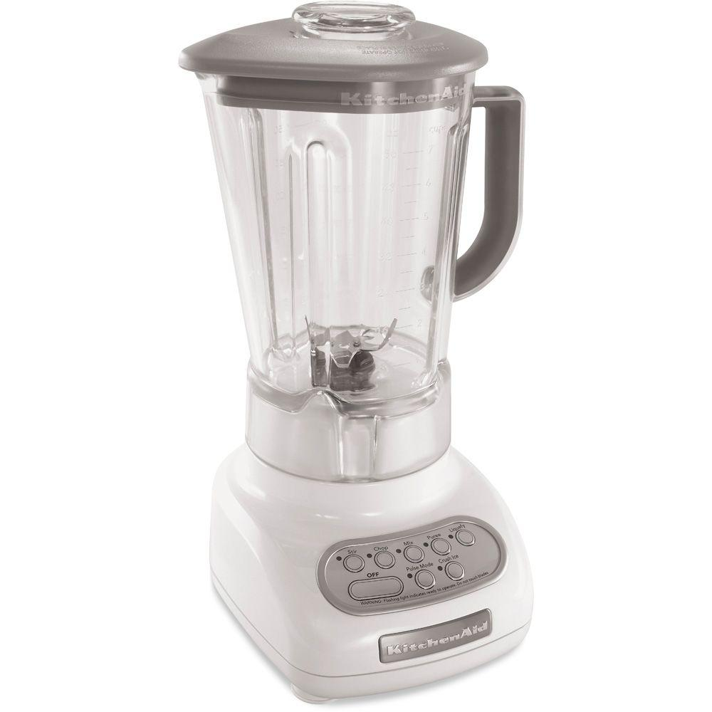 KitchenAid 5-Speed Polycarbonate Jar Blender in White-DISCONTINUED