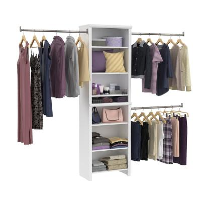 Impressions Standard 60 in. W - 120 in. W White Wood Closet System
