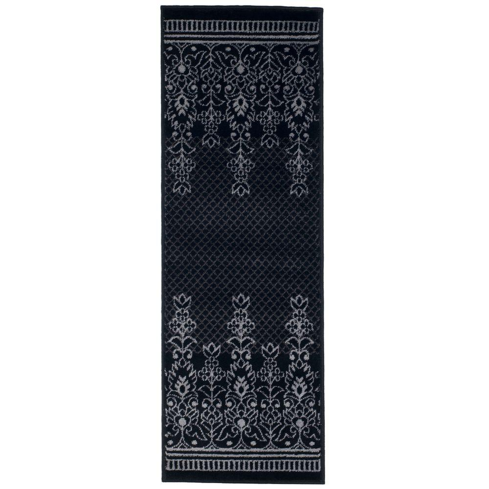 Royal Garden Black 1 ft. 8 in. x 5 ft. Rug