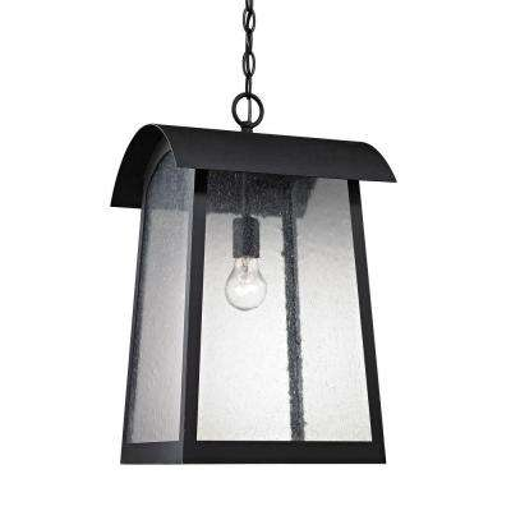 Prince Street 1-Light Matte Black Outdoor Hanging Lamp