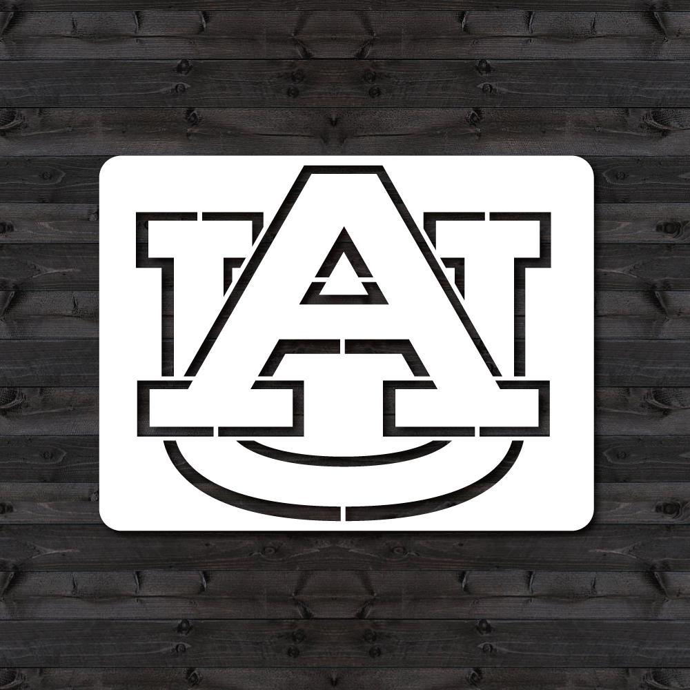 "Auburn ""AU"" Mini Stencil"