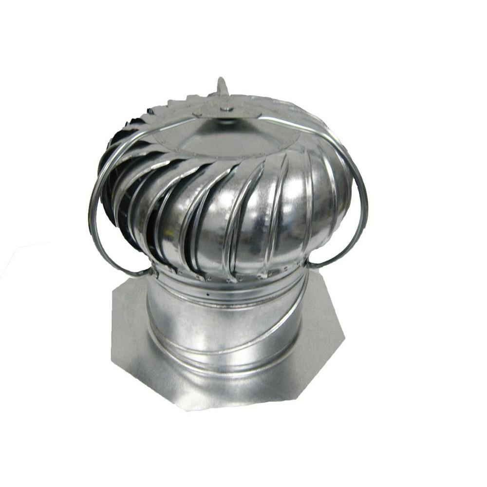 12 in. Galvanized Externally Braced Dual-Bearing Wind Turbine in Mill