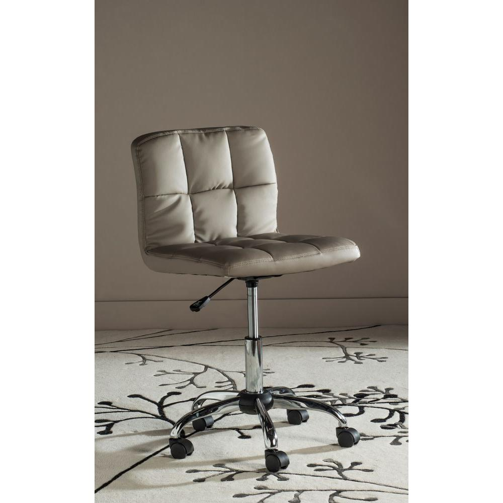 Safavieh Brunner Grey Faux Leather Office Chair