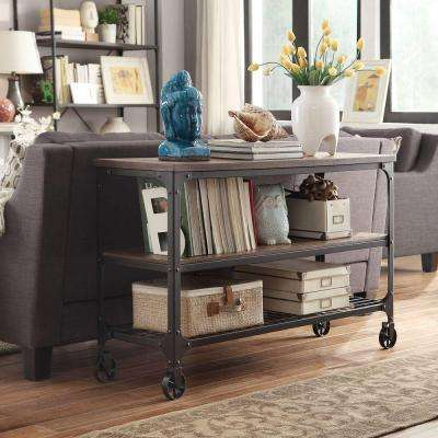 Cabella Distressed Ash Mobile Console Table