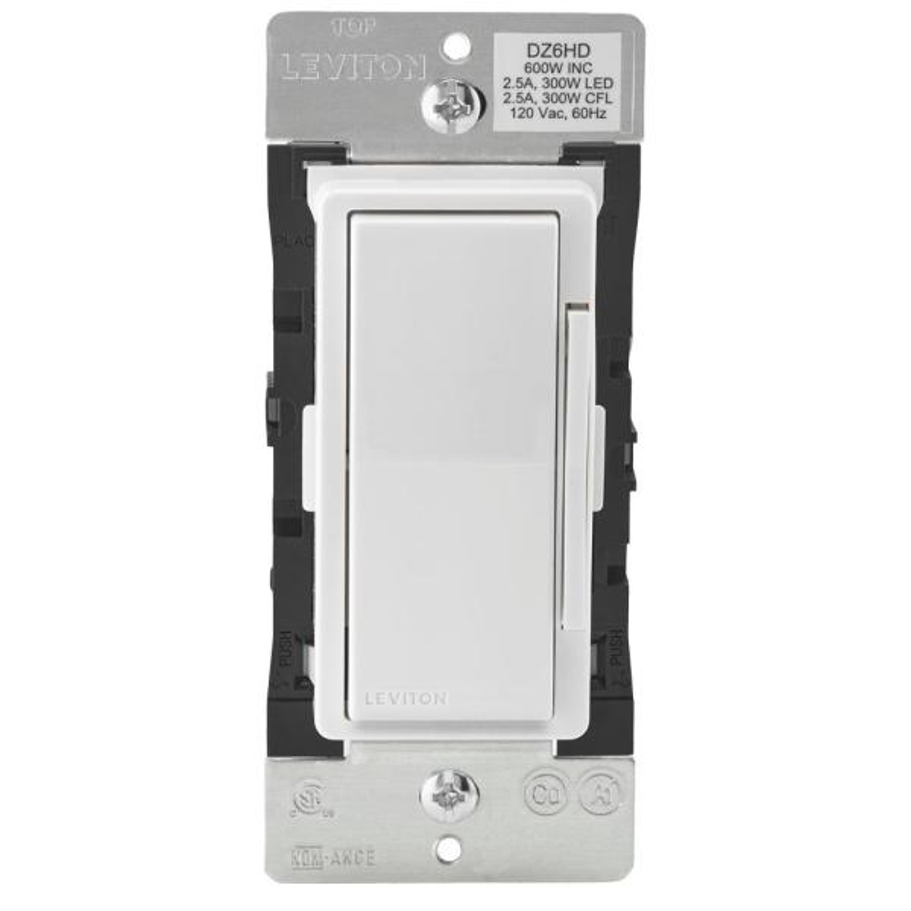 Decora Smart 600-Watt Single Pole Dimmer with Z-Wave Technology, White