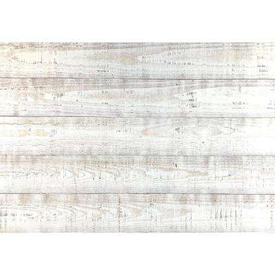 Thermo-treated 1/4 in. x 5 in. x 4 ft. White Barn Wood Wall Planks (10 sq. ft. per 6 Pack)