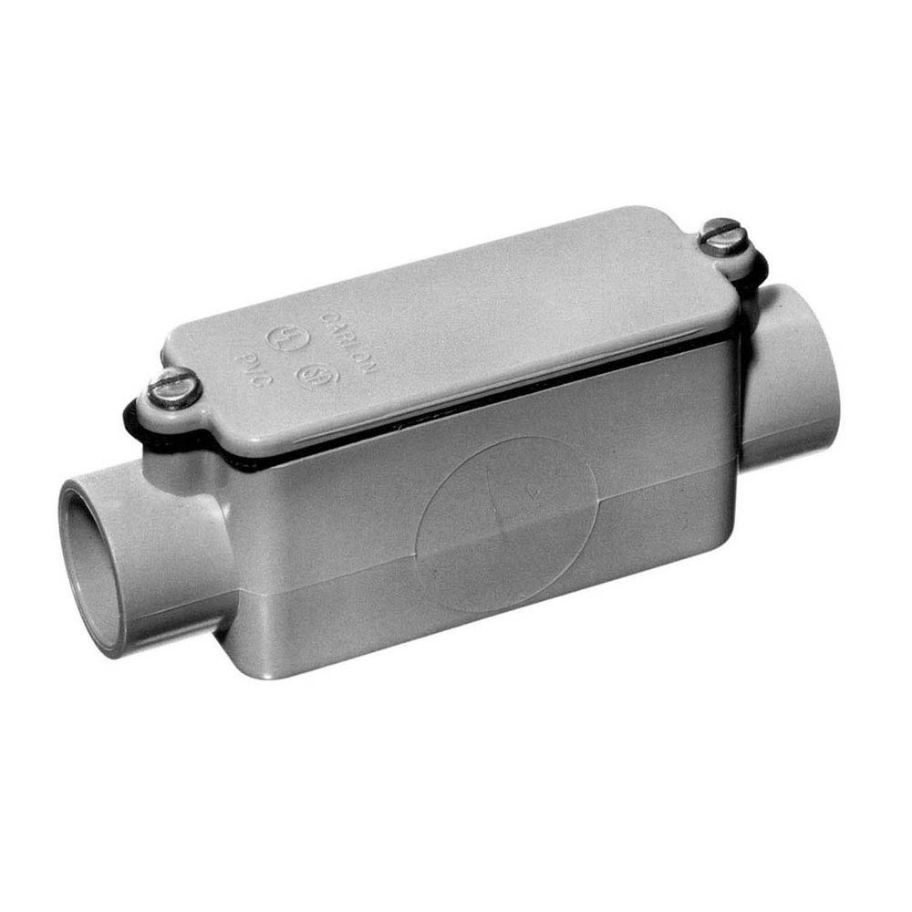 1-1/2 in. Sch. 40 and 80 PVC Type-C Conduit Body (Case