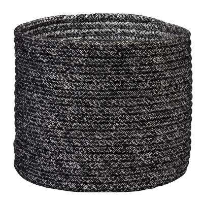 Metallic Round Dark Shimmer Polypropylene Basket