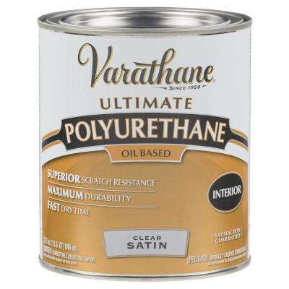 1 qt. Clear Satin Oil-Based Interior Polyurethane (2-Pack)