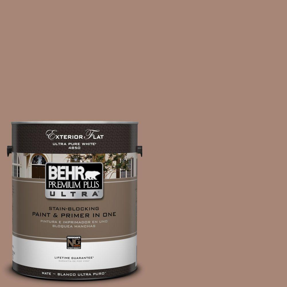 BEHR Premium Plus Ultra 1-Gal. #UL130-18 Tribal Pottery Flat Exterior Paint