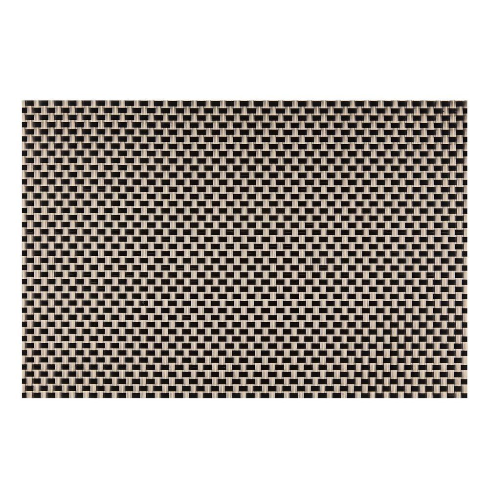 EveryTable Black and Yellow Weave Placemat (Set of 12)