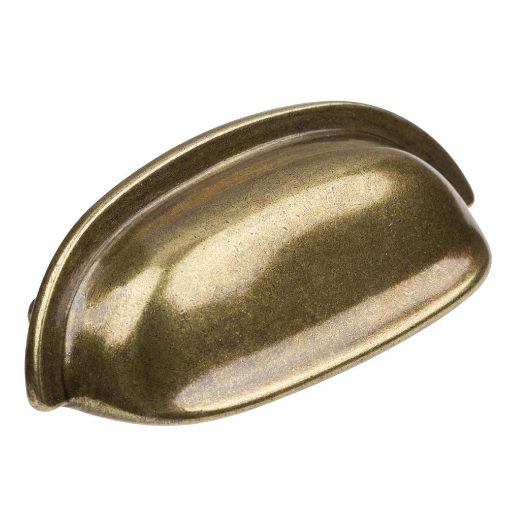 2-1/2 in. CC Antique Brass Classic Bin Cabinet Pulls (10-Pack)