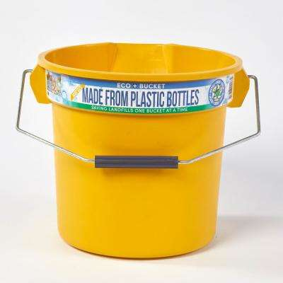 3.5 Gal. Yellow Round 14 Qt. Utility ECO Bucket 100% Made from Recycled Water Bottles