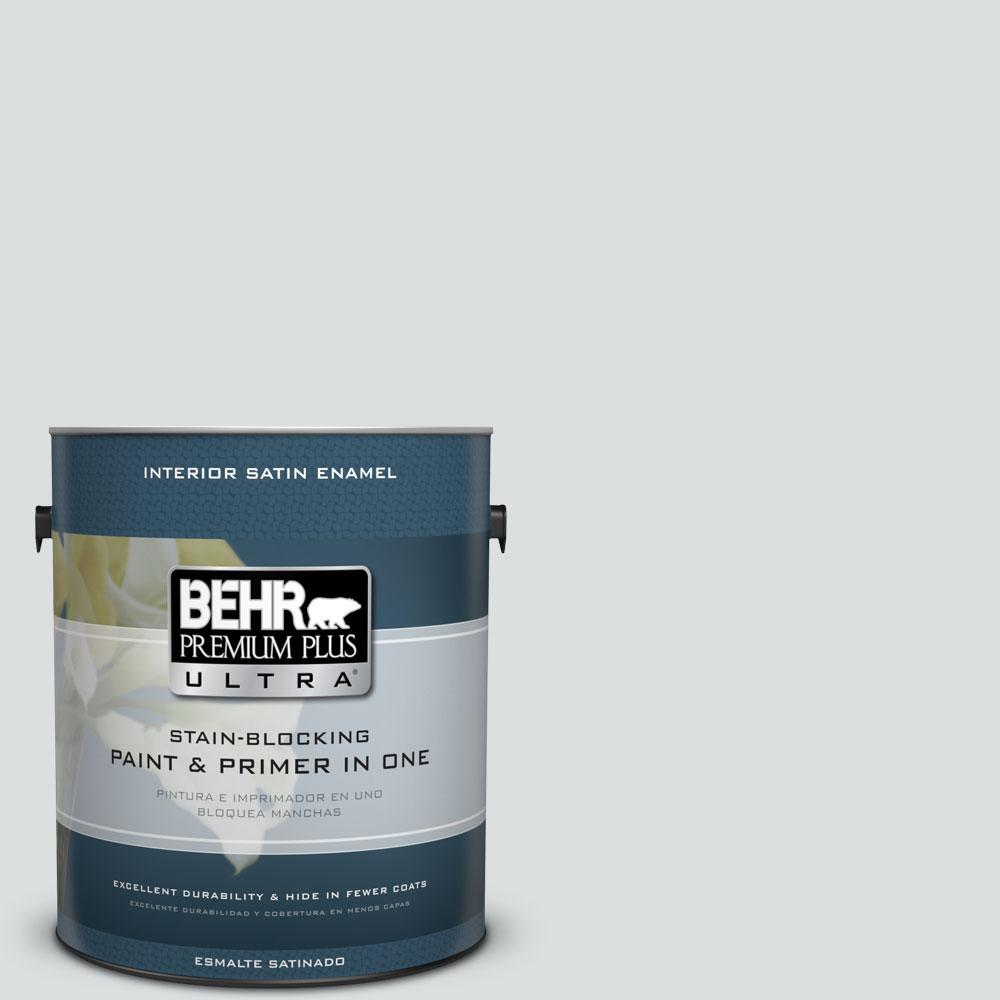 1 gal. #720E-1 Reflecting Pool Satin Enamel Interior Paint and Primer