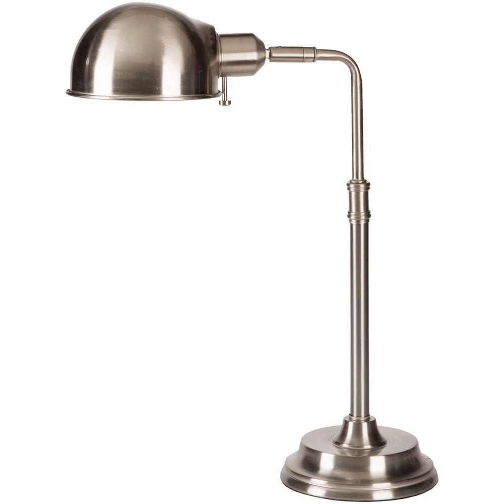 Aspdin18.5 in. Silver Brushed Steel Indoor Table Lamp