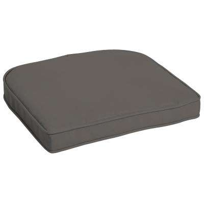 Slate Canvas Texture Contoured Outdoor Seat Cushion