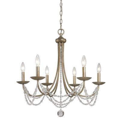 Tatiana Collection 6-Light Golden Aura Chandelier