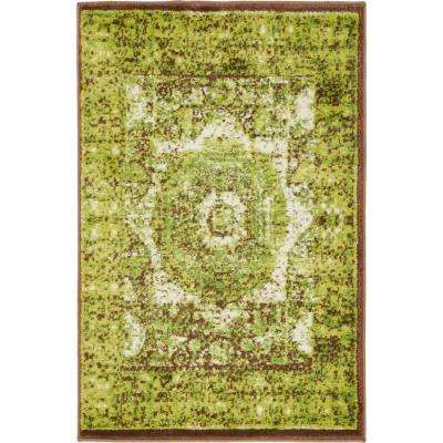 Imperial Lygos Green 2' 0 x 3' 0 Area Rug