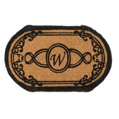 Perfect Home Lexington Oval Monogram Mat 30 in. x 48 in. x 1.5 in. Monogram W-DISCONTINUED