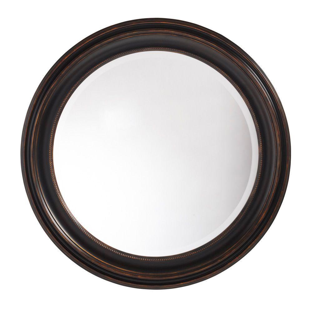 Martha Stewart Living Tahoe 33 in. Framed Mirror in Bronze-DISCONTINUED
