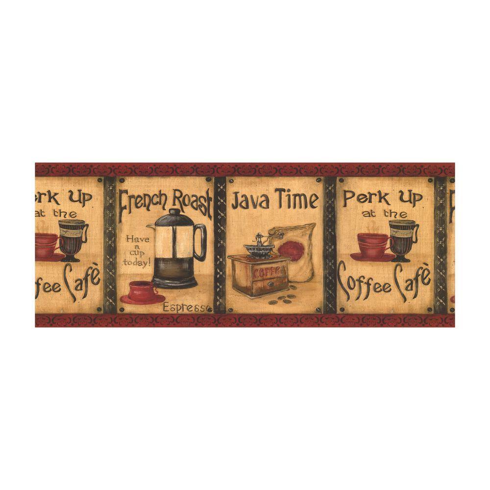 York Wallcoverings Best of Country Java Time Wallpaper Border