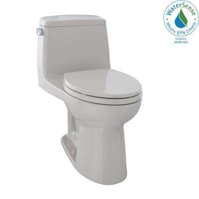 Eco UltraMax 1-Piece 1.28 GPF Single Flush Elongated Toilet in Sedona Beige