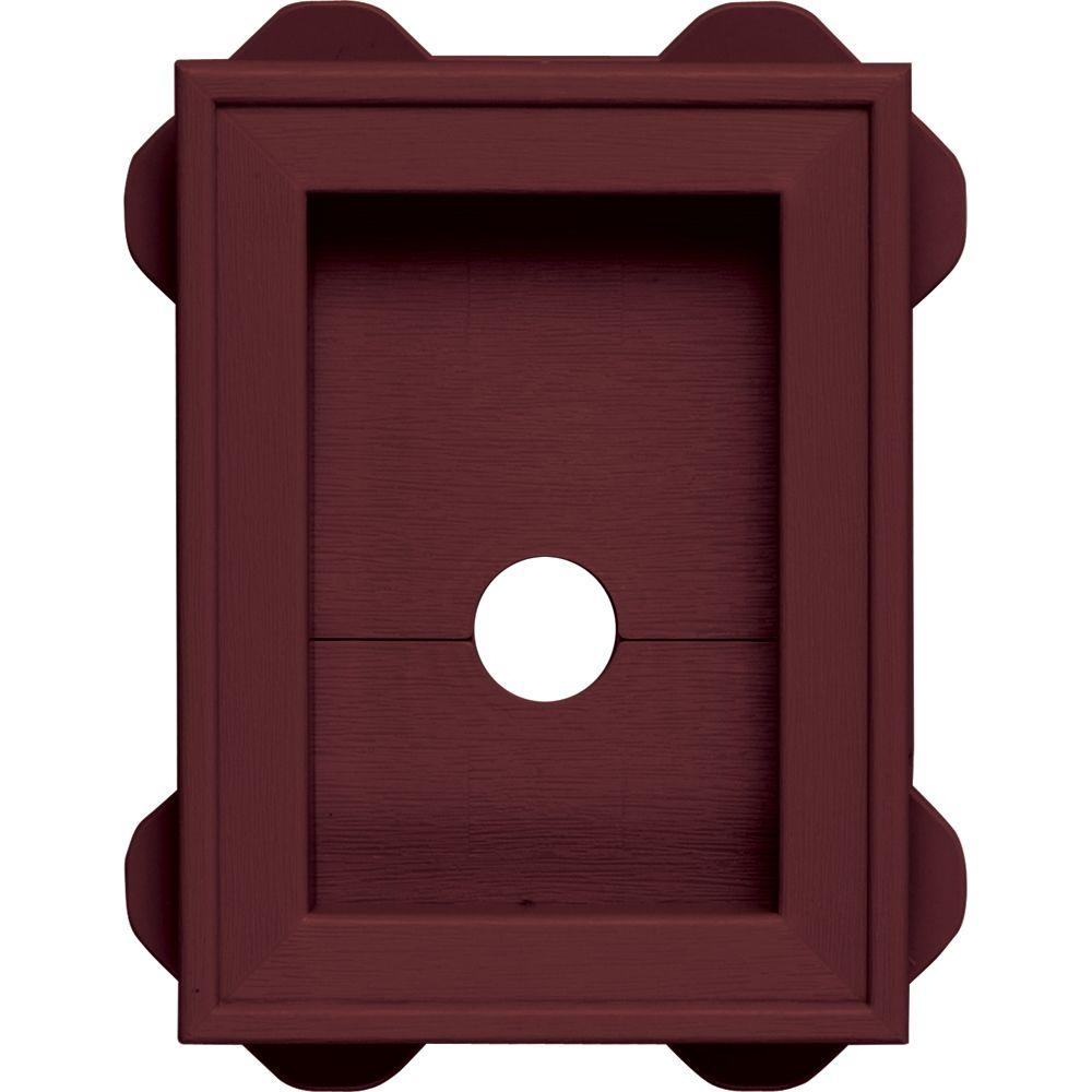 Builders Edge 130130010078 Mount Block Wineberry