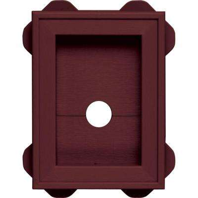5.5 in. x 8.625 in.  #078 Wineberry Wrap Around Mounting Block