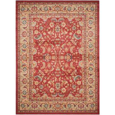 Mahal Red Natural 8 Ft X 10 Area Rug