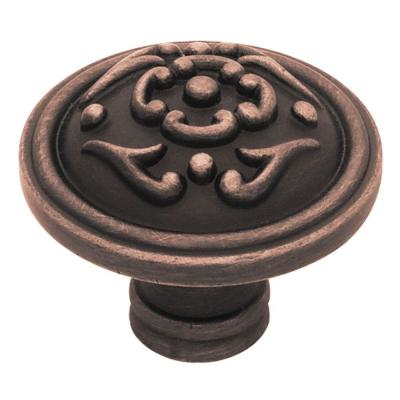 French Lace 1-1/2 in. (38mm) Venetian Bronze Round Cabinet Knob