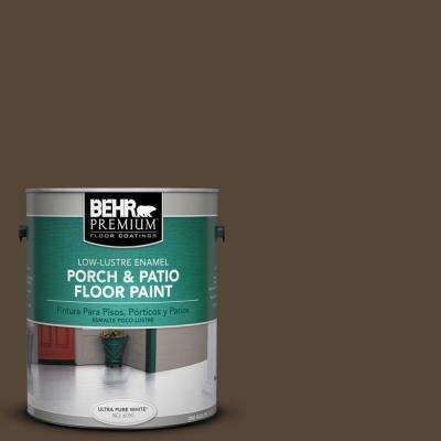 1 gal. #780B-7 Bison Brown Low-Lustre Enamel Interior/Exterior Porch and Patio Floor Paint