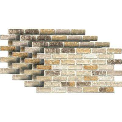 Pacific Creme 24 in. x 46-3/8 in. x 3/4 in. Faux Used Brick Panel (4-Pack)