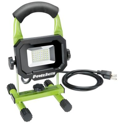 2400 Lumens Weatherproof Portable LED Work Light with Handle, Stand, Impact-Resistant Glass Lens, and 5 ft. Power Cord