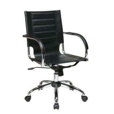 Trinidad Black Vinyl Office Chair