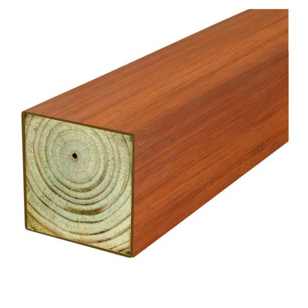 4 in. x 4 in. x 8 ft. #2 DF Polymer Coated Western Red Cedar Tone Fence Post