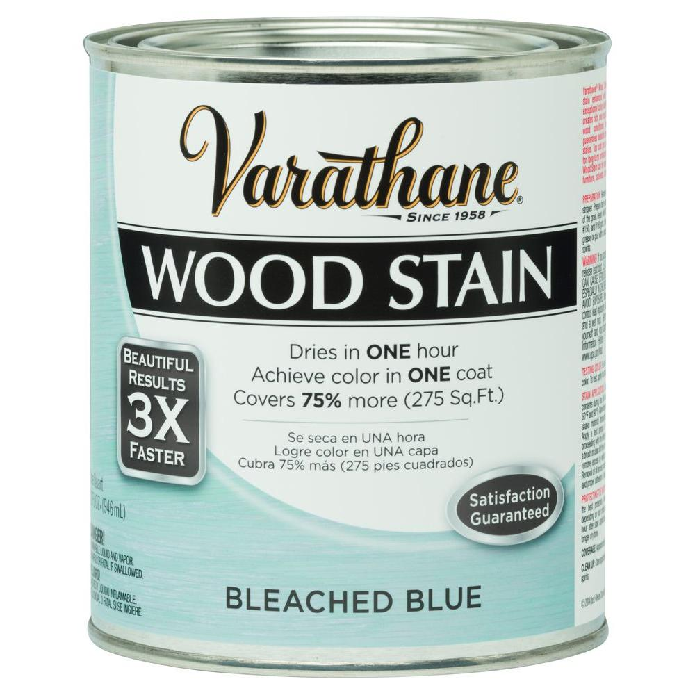 1 qt. 3X Bleached Blue Premium Wood Interior Stain (Case of