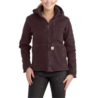 Women's Large Deep Wine/Shadow Sandstone Full Swing Caldwell Duck Jacket