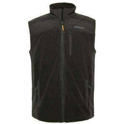 Momentum Men's Large Black Polyester Microfleece Vest