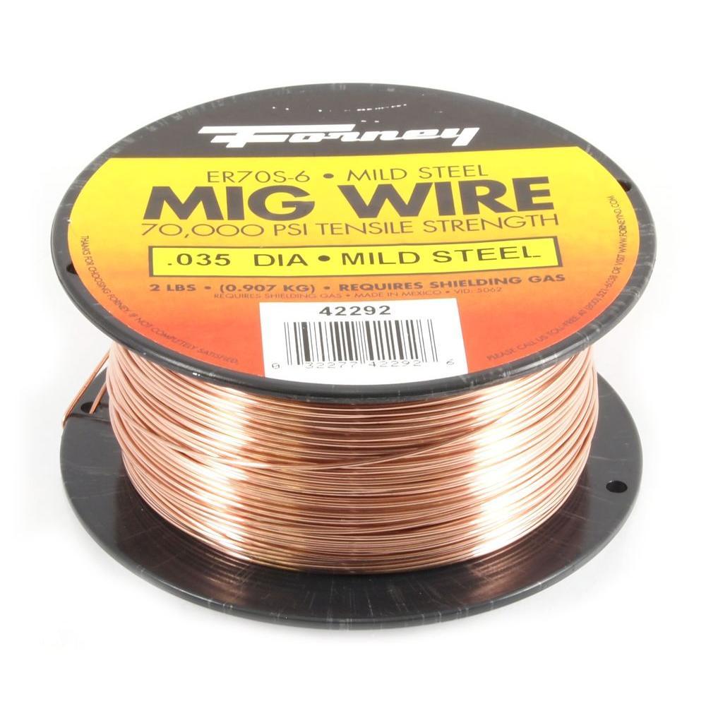 0.035 Dia E70S-6 Mild Steel MIG Wire 2 lb. Spool