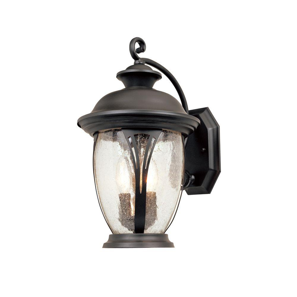 Designers Fountain Westchester 3-Light Bronze Outdoor Wall-Mount Lantern Sconce