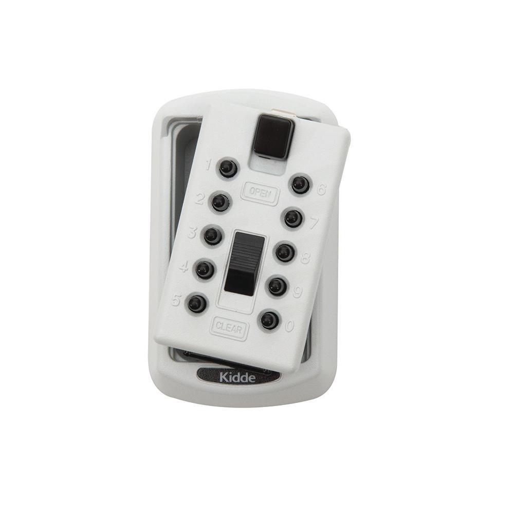 Mounted 2-Key Box with Pushbutton Combination Lock