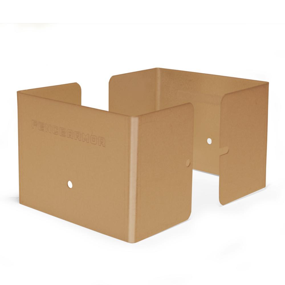 4 in. L x 4 in. W x 1/4 ft. H Clay Fence Post Guard for Wood or Vinyl