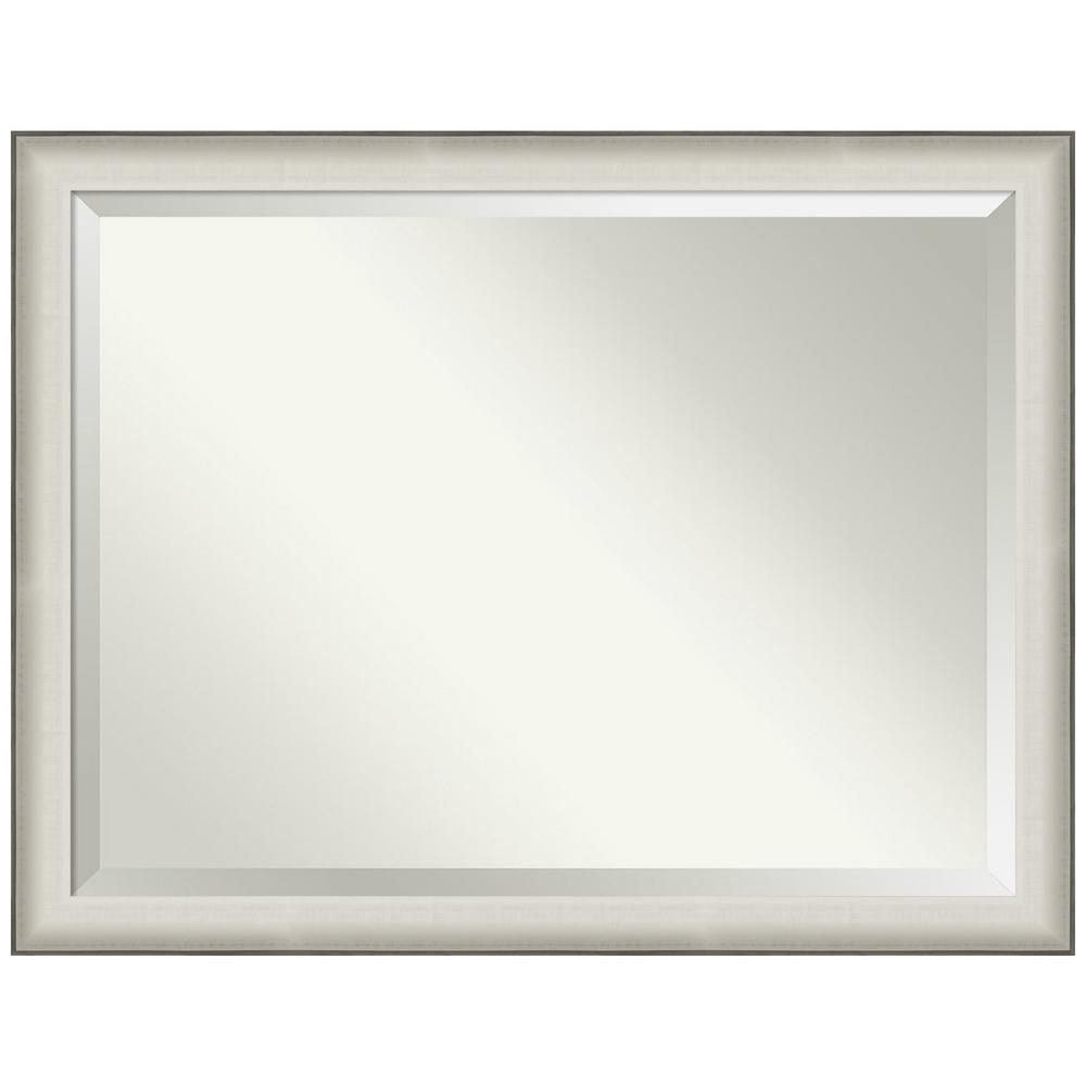 Amanti Art Allure White 44.50 in. x 34.50 in. Bathroom Vanity Mirror was $459.0 now $269.89 (41.0% off)