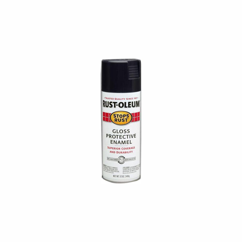 Rust-Oleum Stops Rust 12 oz. Protective Enamel Gloss Black Spray Paint (6-Pack)