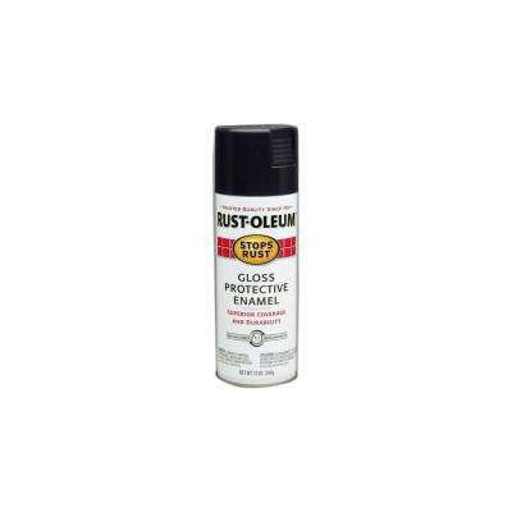 12 oz. Protective Enamel Gloss Black Spray Paint (6-Pack)