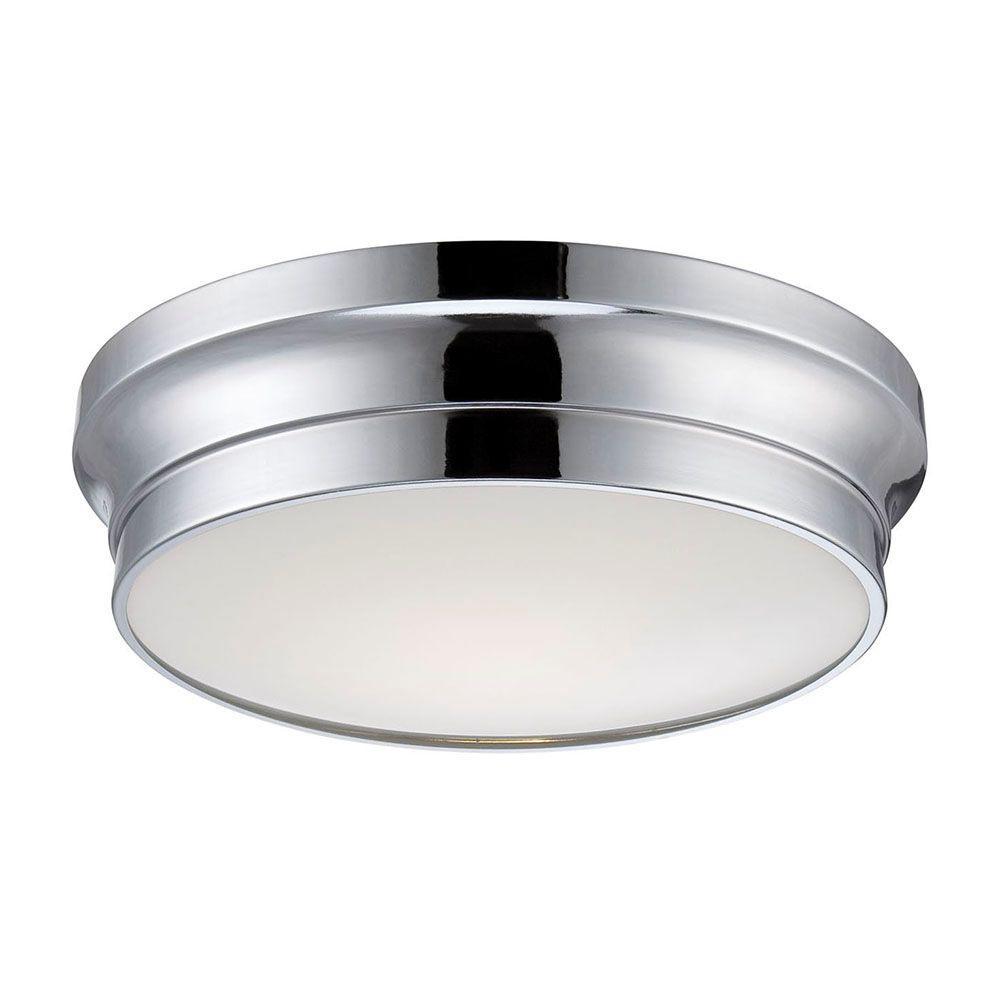 Jane Collection 1 Light Chrome Led Flushmount