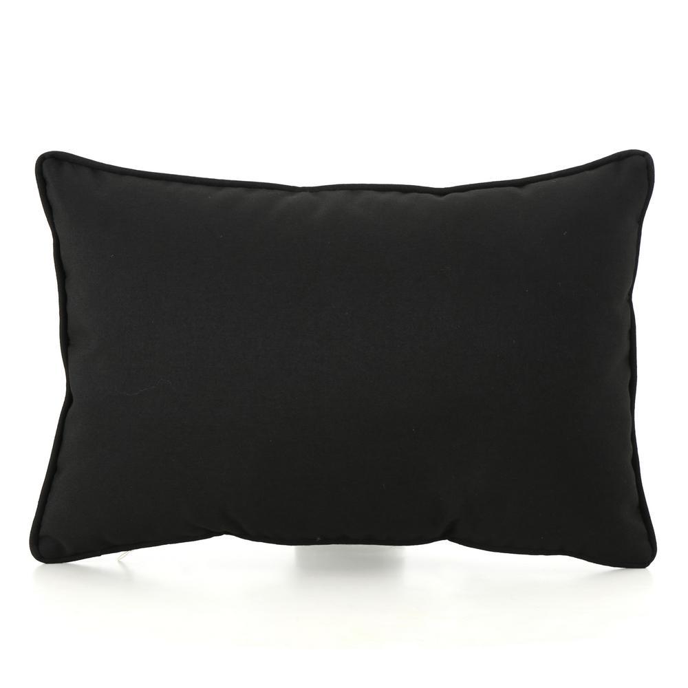 Coronado Black Outdoor Throw Pillow